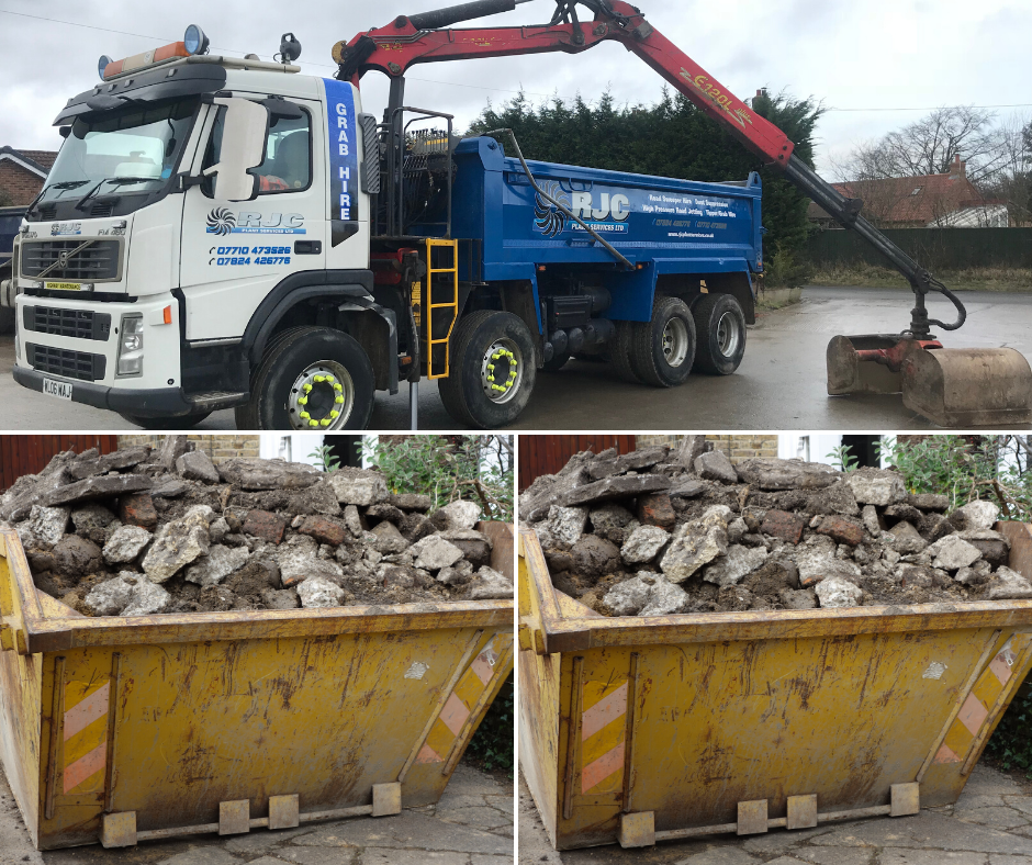 Skip hire versus grab hire